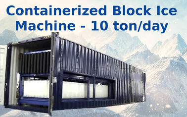 Trung Quốc Air Cooling Containerized Block Ice Plant With Bitzer / Copeland Compressor nhà phân phối